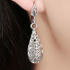 Jewelry - Tear Drop Crystal Cut Earrings